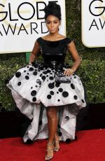 JANELLE MONAE at 74th Annual Golden Globe Awards in Beverly Hills 01/08/2017