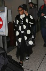 JANELLE MONAE at Los Angeles International Airport 01/02/2017