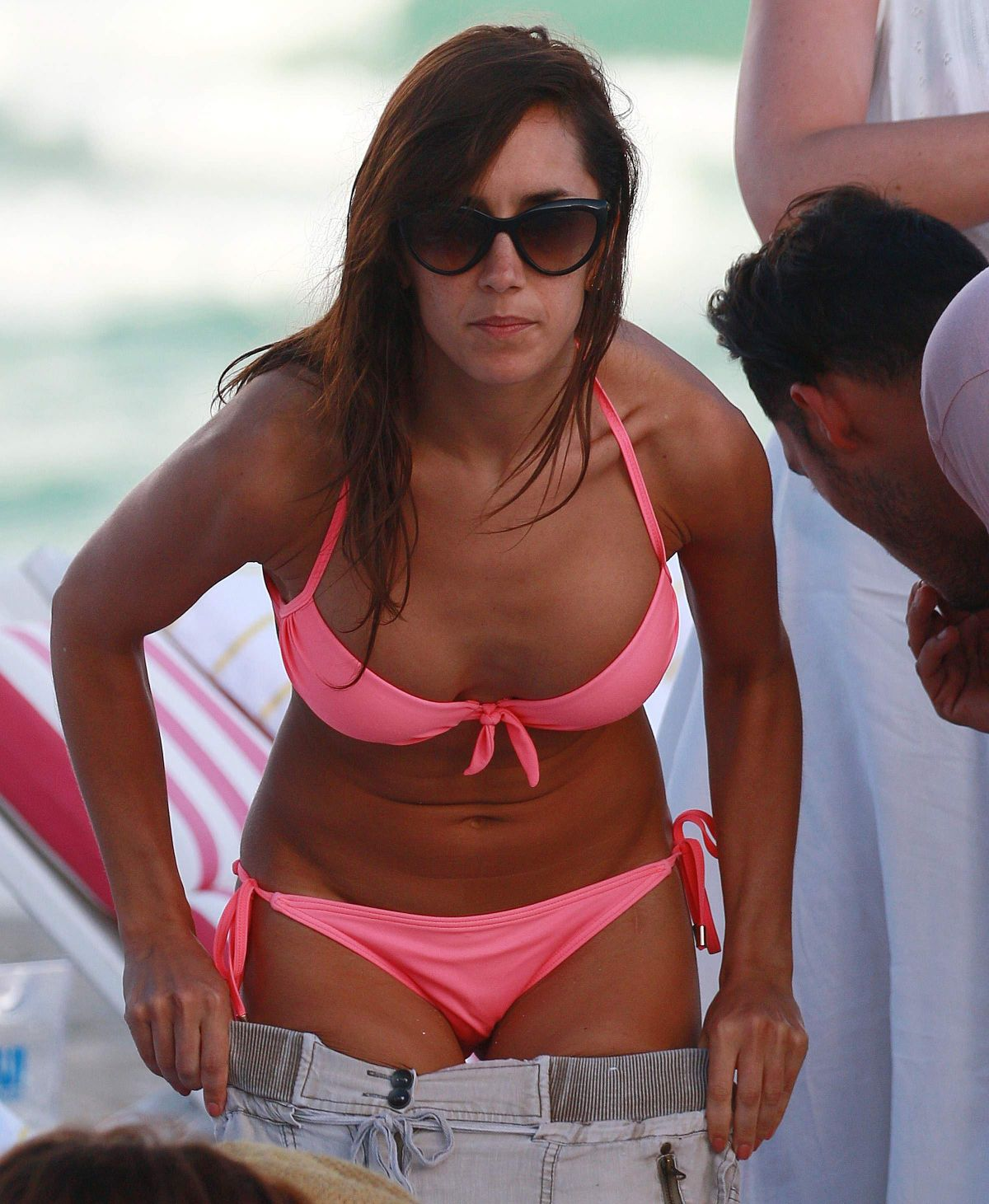 JANETTE MANRARA in Bikini at a Beach in Miami 01/02/2017
