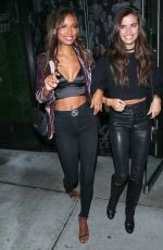 JASMINE TOOKES and SARA SAMPAIO Leaves Catch LA in West Hollywood 01/20/2017