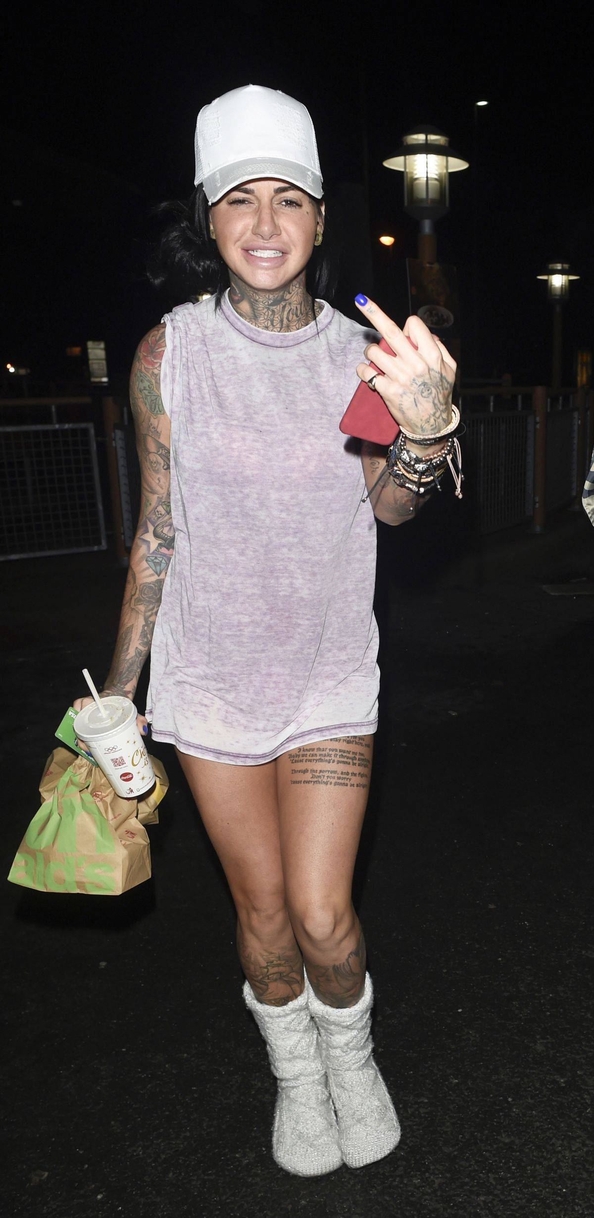 JEMMA LUCY at McDonalds in Manchester 01/01/2017
