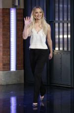 JENNIFER LAWRENCE at Late Night with Seth Meyers New Year