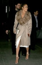 JENNIFER LOPEZ Night Out in West Hollywood 01/26/2017