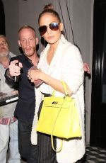 JENNIFER LOPEZ Out for Dinner in West Hollywood 12/28/2016