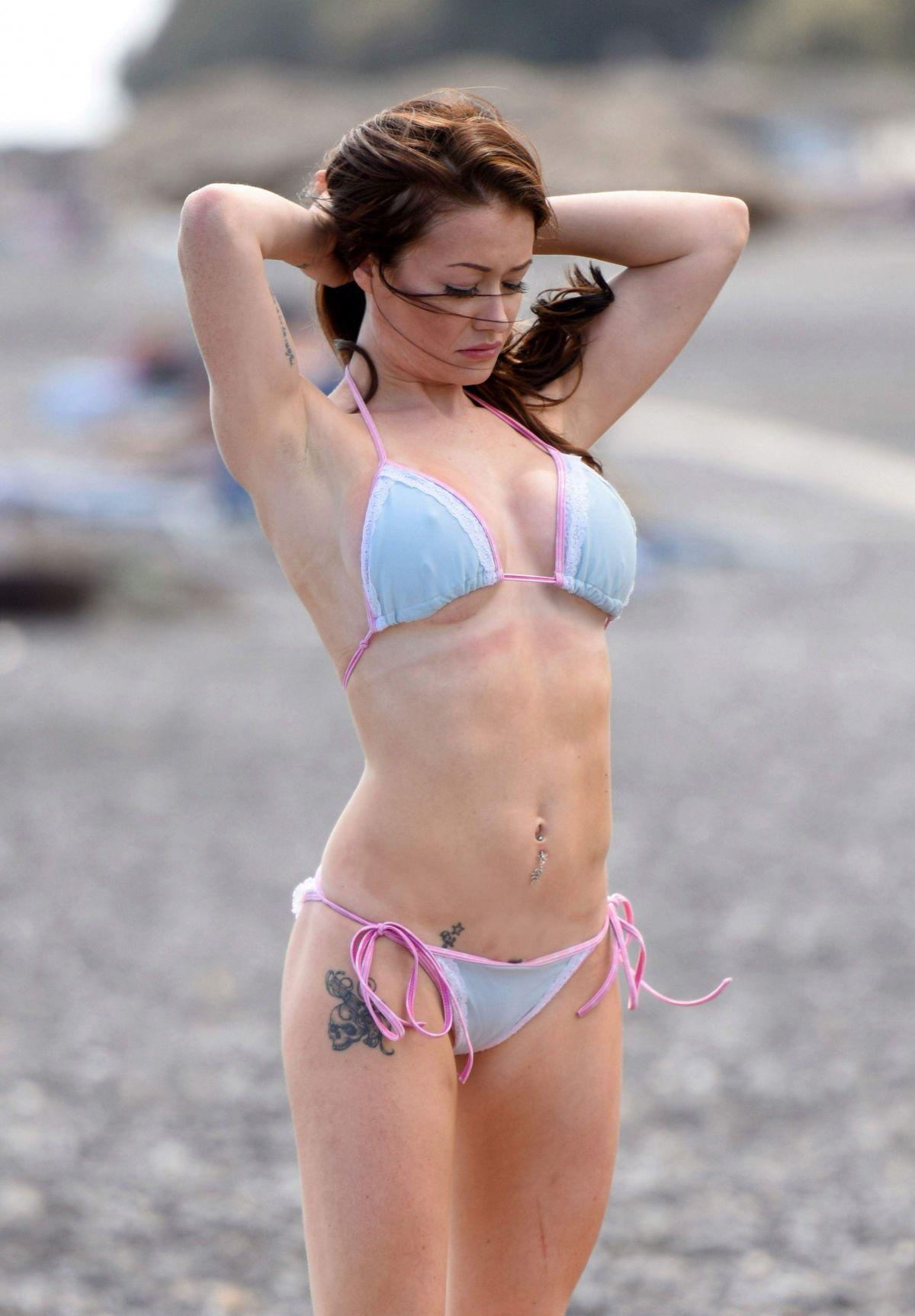 JESS IMPIAZZI in Bikini on the Beach in Ffrance 01/24/2017