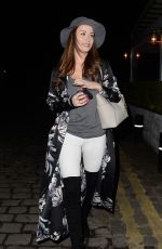 JESS IMPIAZZI Out for Dinner at Piccolinos in Manchester 01/12/2017