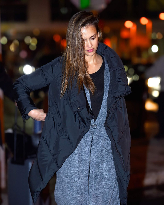 JESSICA ALBA at JFK Airport in New York 01/22/2017