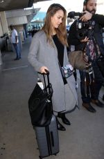 JESSICA ALBA at Los Angeles International Airport 01/25/2017
