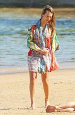 JESSICA ALBA in Bikini Top at a Beach in Hawaii 01/01/2017