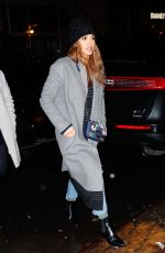 JESSICA ALBA Out for Dinner in New York 01/24/2017