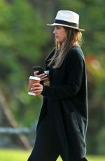 JESSICA ALBA Out for Morning Coffee in Kauai 01/01/2017