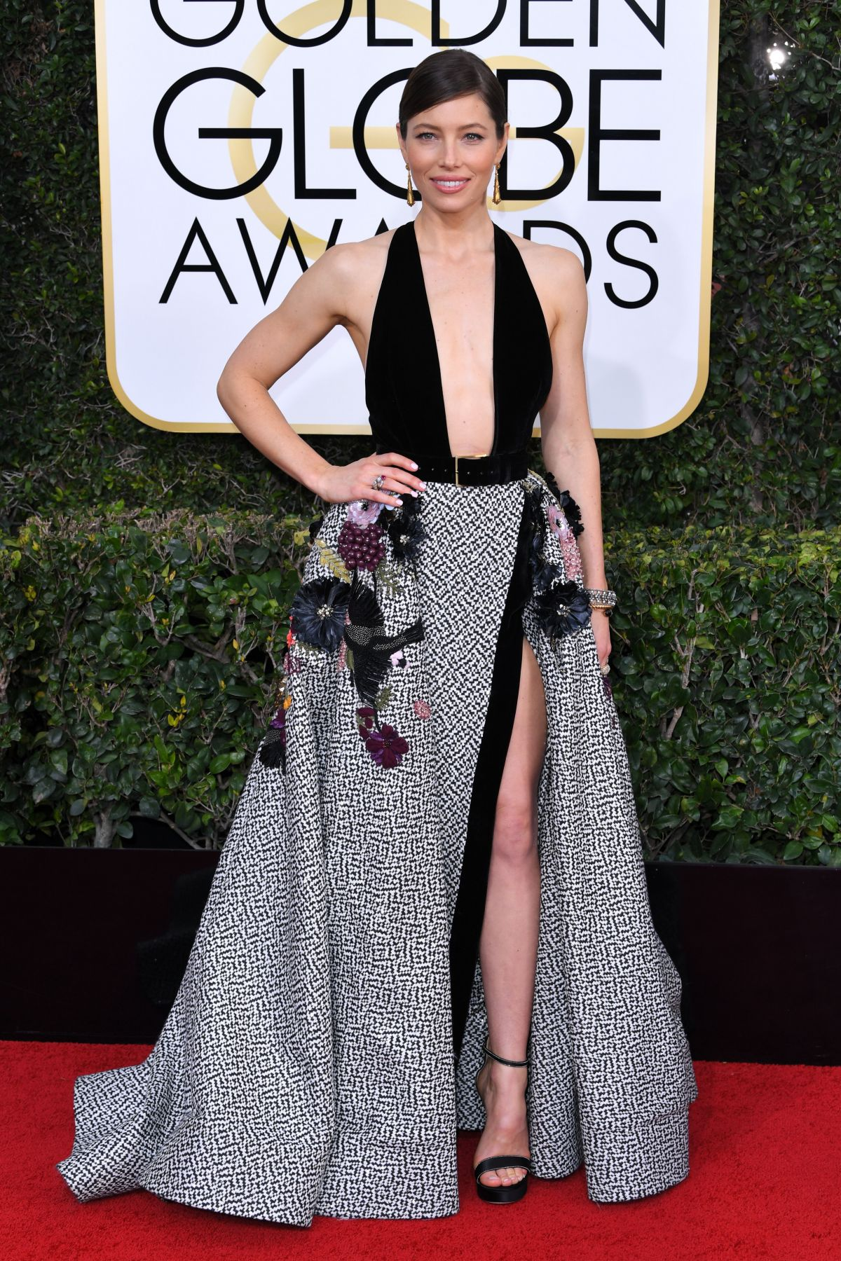 JESSICA BIEL at 74th Annual Golden Globe Awards in Beverly Hills 01/08/2017