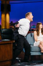 JESSICA BIEL at Late Late Show with James Corden in Los Angeles 01/12/2017