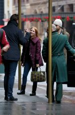 JESSICA CHASTAIN Arrives at Her Hotel in New York 01/02/2017