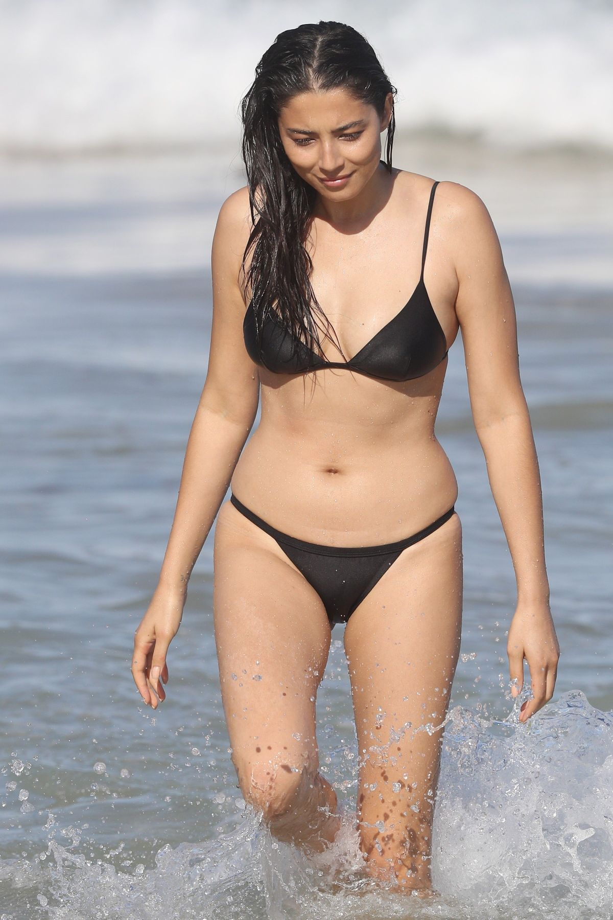 JESSICA GOMES in Bikini on the Beach in Sydney 01/27/2017