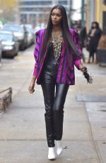 JESSICA WHITE Out and About in New York 01/11/2017