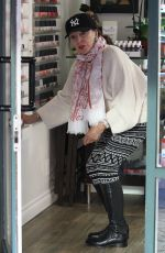 JOAN COLLINS at a Nail Salon in Beverly Hills 01/13/2017