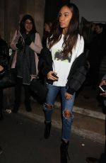 JOAN SMALLS Leaves Givenchy Fashion Show in Paris 01/20/2017