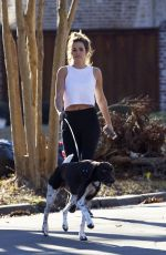 JOJO FLETCHER Out with Her Dog in Dallas 01/02/2017