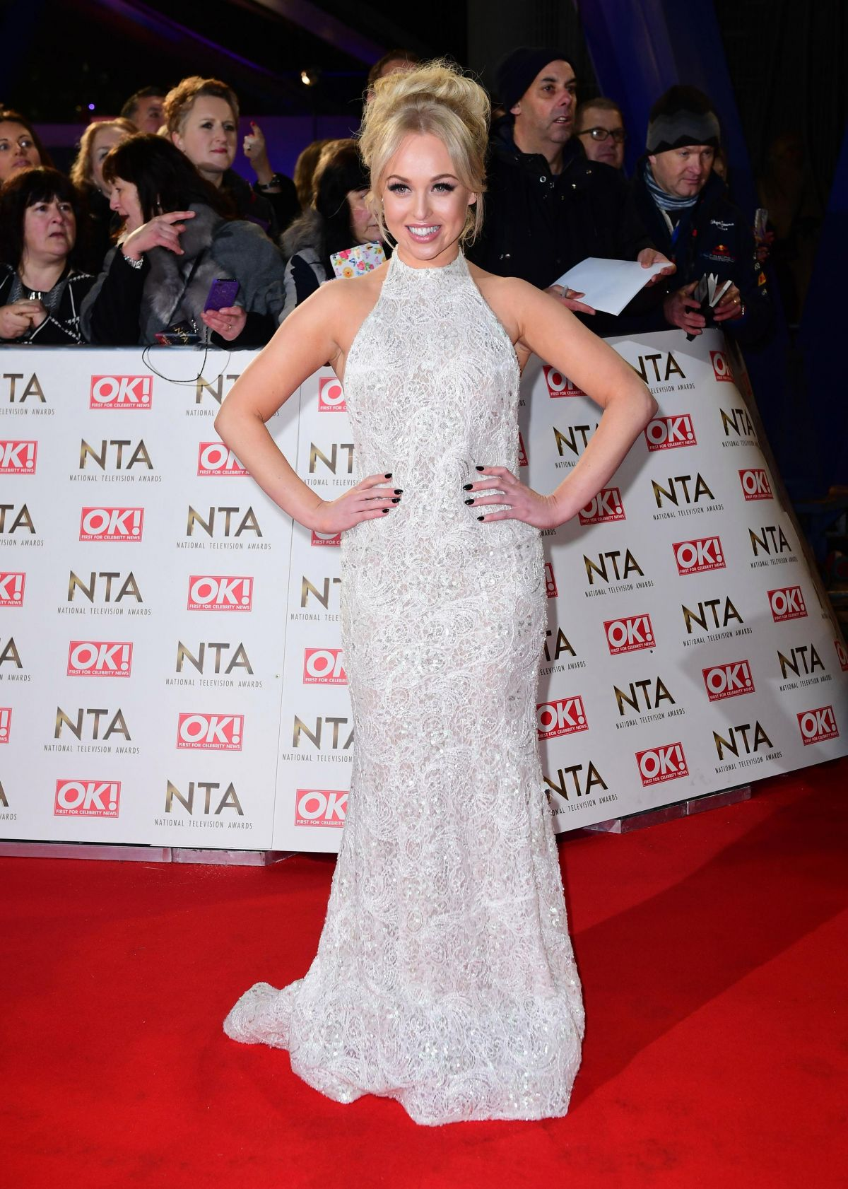 JORGIE PORTER at National Television Awards in London 01/25/2017