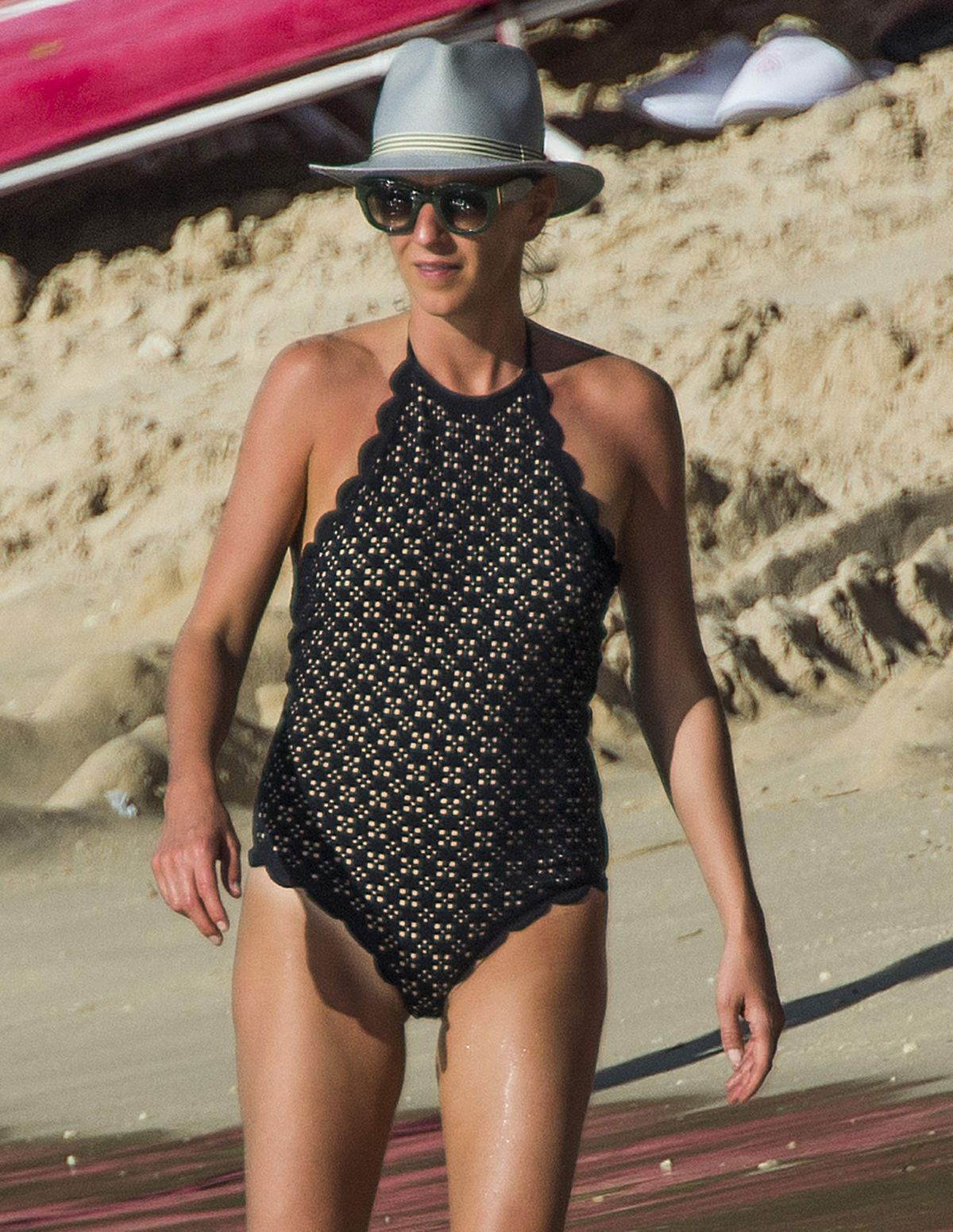 JULIA CAREY in Swimsuit on Beach in Barbados 01/01/2017