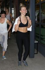 JULIANNE HOUGH at Soul Cycle Gym in Hollywood 01/21/2017