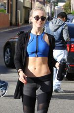 JULIANNE HOUGH in Tights Leaves a Gym in Los Angeles 01/11/2017