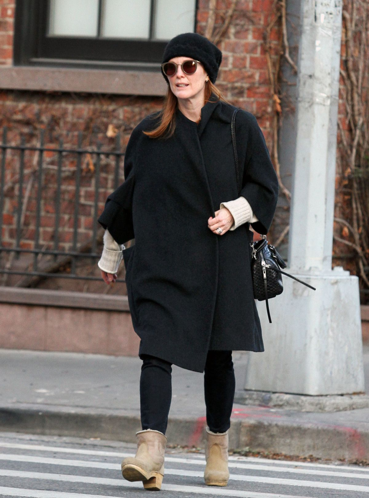JULIANNE MOORE Out and About in New York 01/16/2017