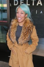 K. MICHELLE at LAX Airport in Los Angeles 01/17/2017
