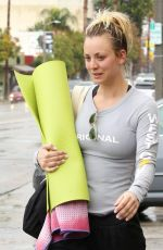 KALEY CUOCO Leaves Yoga Class in Los Angeles 01/23/2017