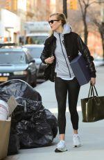 KARLIE KLOSS Leaves Her Apartment in New York 01/12/2017