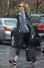 KARLIE KLOSS on a Rainy Day Out in New York 01/03/2017