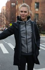 KARLIE KLOSS Out and About in New York 01/16/2017