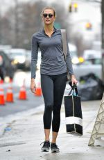 KARLIE KLOSS Out and About in New York 01/20/2017