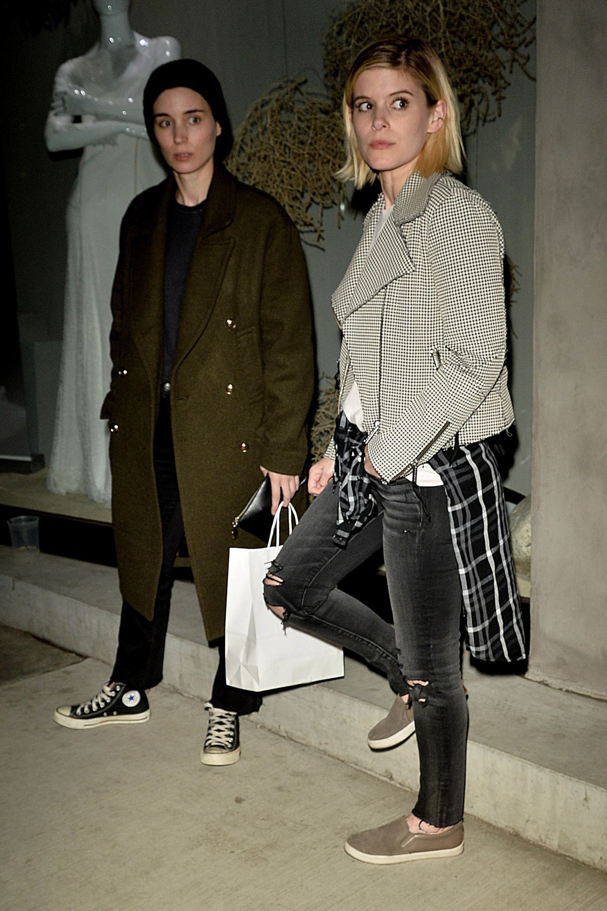 KATE and ROONEY MARA Out for Dinner in West Hollywood 01/30/2017