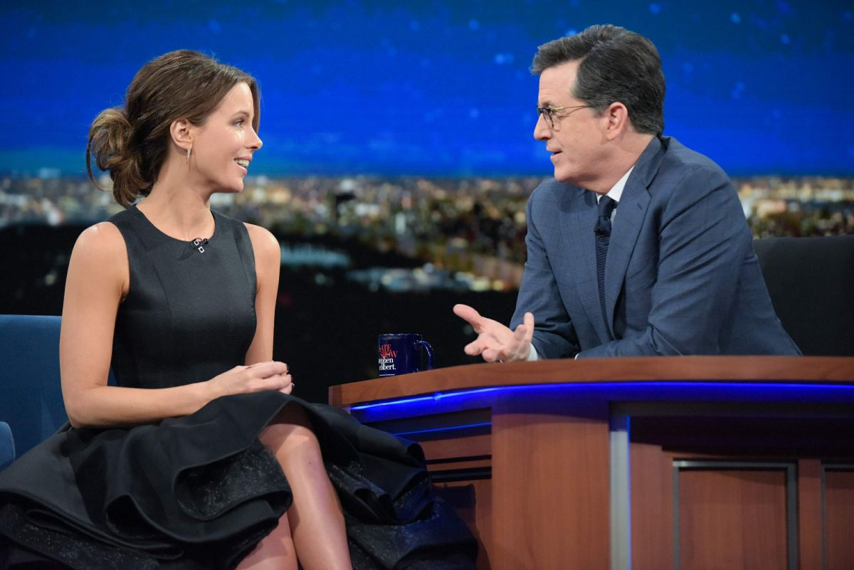 KATE BECKINSALE at Late Show with Stephen Colbert in New York 01/04/2017
