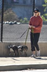 KATE MARA Walks Her Dogs Out in Silver Lake 01/29/2017