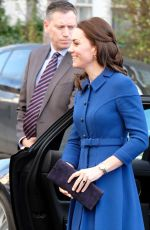 KATE MIDDLETON Arrives at Early Year Parenting Unit in London 01/11/2017