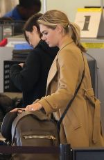 KATE UPTON at LAX Airport in Los Angeles 01/17/2017