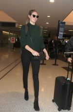 KATE UPTON at Los Angeles International Airport 01/22/2017