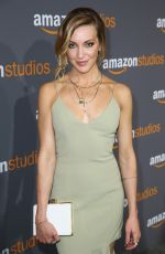 KATIE CASSIDY at Amazon Studios' Golden Globes Party in Beverly Hills 01/08/2017