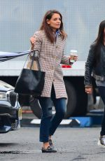KATIE HOLMES Arrives at the Set of