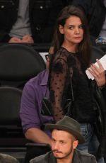KATIE HOLMES at LA Lakers Game in Los Angeles 01/15/2017