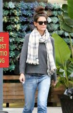 KATIE HOLMES Out for Lunch at Jasmine Thai in Calabasas 01/18/2017