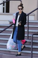 KATIE HOLMES Out Shopping in Beverly Hills 01/14/2017