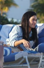 KATIE LEE Relaxing at a Beach in Miami 01/09/2017