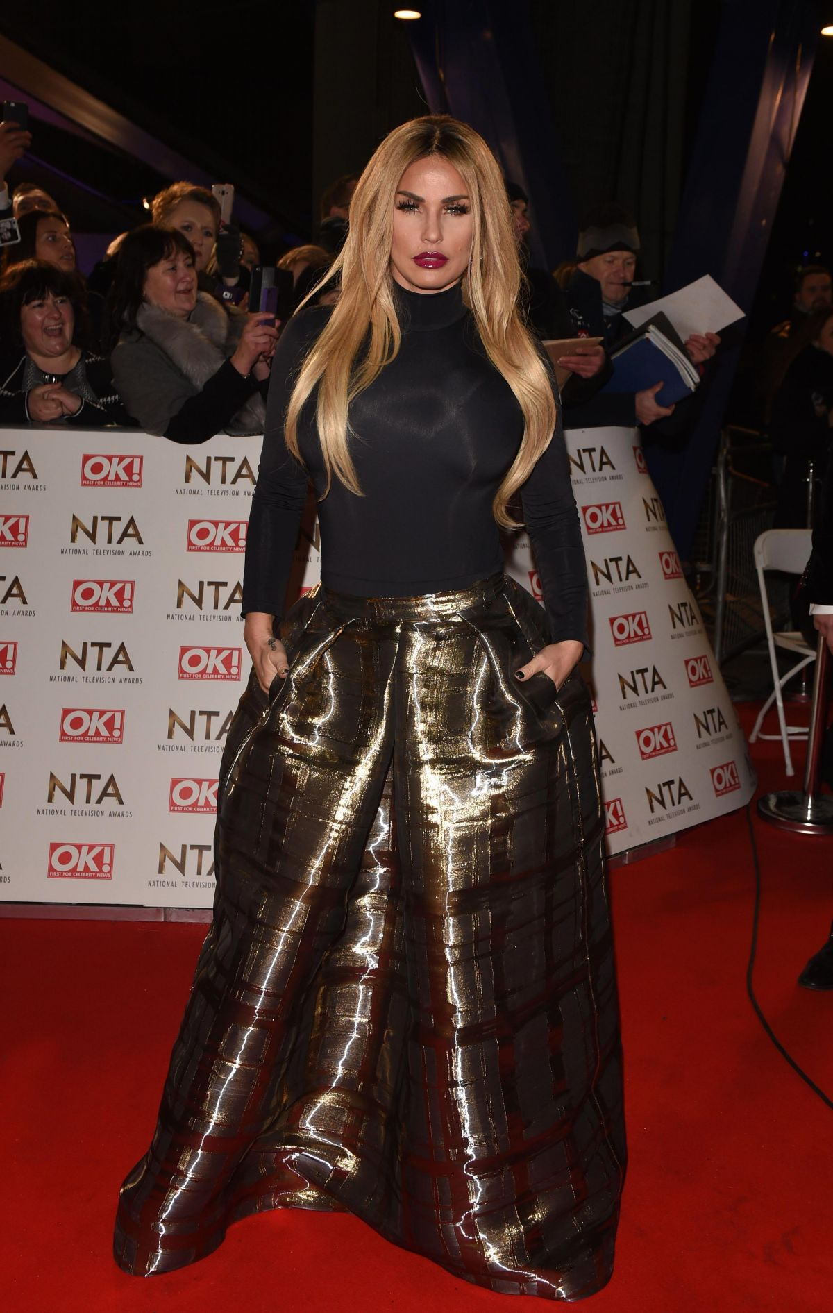 KATIE PRICE at National Television Awards in London 01/25/2017