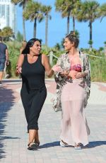 KATIE WAISSEL and RENEE GRAZIANO Out at a Beach in Miami 12/31/2016