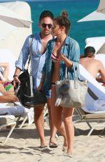 KATIE WAISSEL in Bikini at a Beach in Miami 01/01/2017