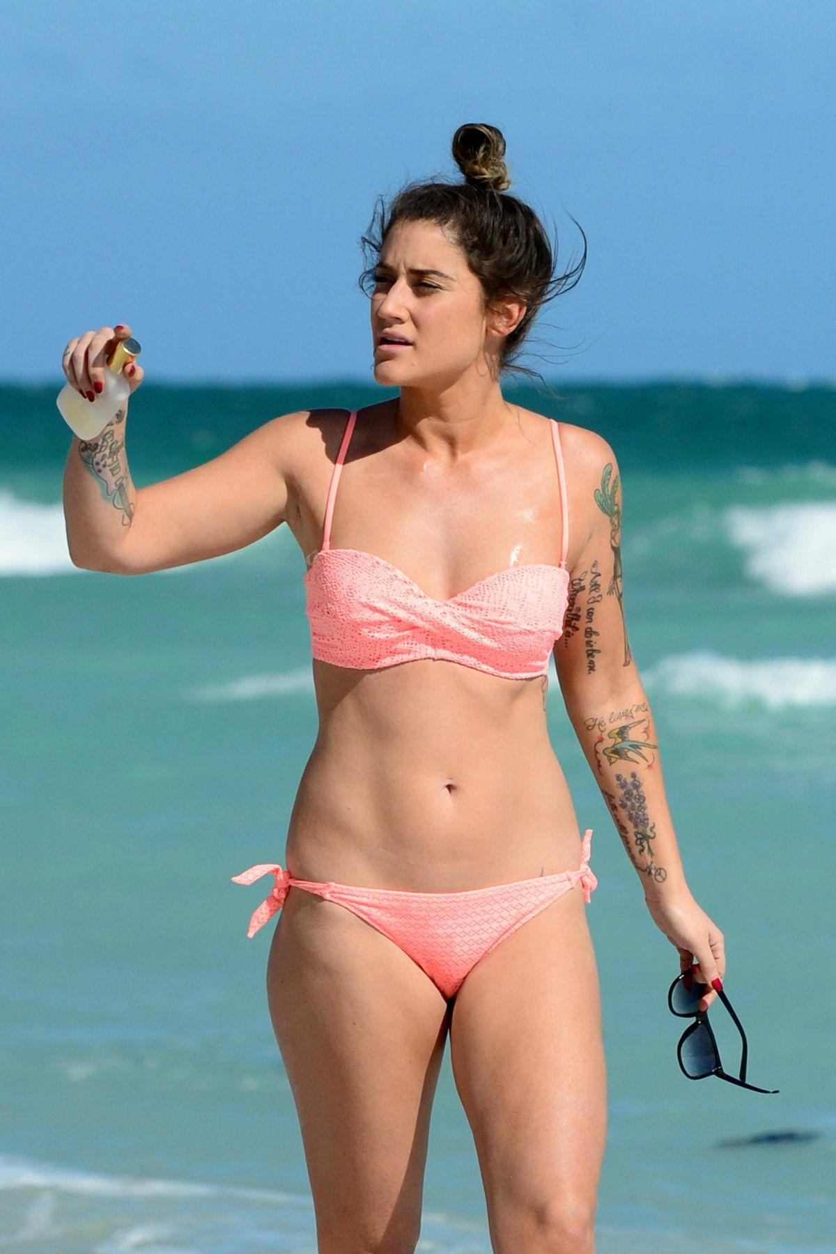 KATIE WAISSEL in Bikini at a Beach in Miami 01/04/2017